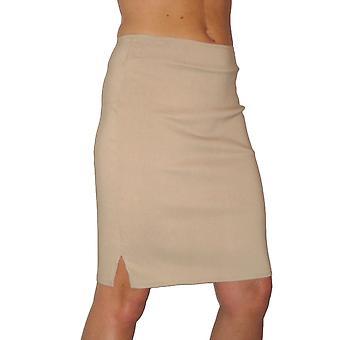 Women's الذكية تمتد قلم رصاص تنورة السيدات عارضة مكتب طول الركبة سليم تناسب Bodycon تنورة 6-18