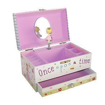 Tytöt suorakaiteen muotoinen prinsessa musikaali korut laatikko
