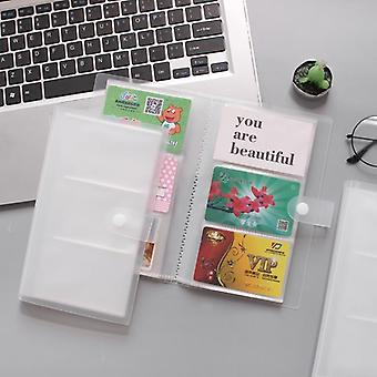 Id Holders Pp Matte Business Card Book Large Capacity, Clip Ticket Collection