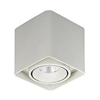 Moderne Technique LED Surface Monté Blanc, blanc chaud 3000K 840lm