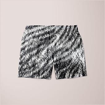 White bengal tiger fur wildlife print pattern poster (1) shorts