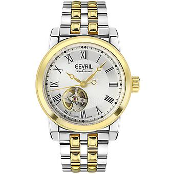 Gevril Men''s Madison SS Silver Dial dois tons Band