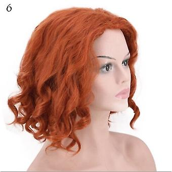 Fluffy Small Curly Short Wig, High Temperature Synthetic Hair Simulating Natural And Comfortable, Ladies Wig