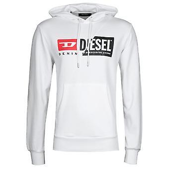 Diesel S-Girk Cuty White Hooded Sweatshirt