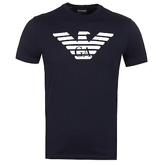 Emporio Armani Big Eagle Navy Logo T-Shirt