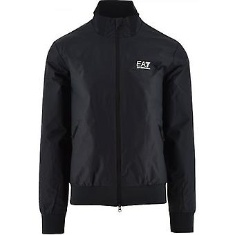 EA7 Blue Regular Fit Bomber Jacket