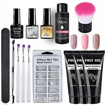 Nail Polish Art Kit - Quick Building Extending, Nail Length, Hard Gel