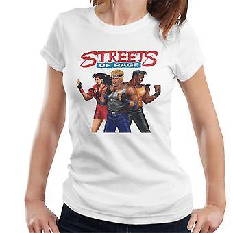 Sega Streets Of Rage Pixelated Tegn Kvinner&ampos;s T-skjorte