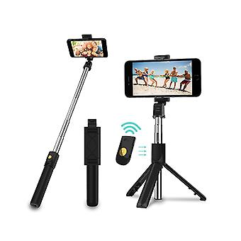 Bluetooth Selfie Tripod Extendable Stick Phone With Remote