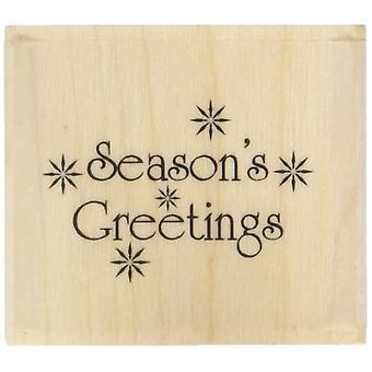 Art stamps seasons greetings inca stamp, black