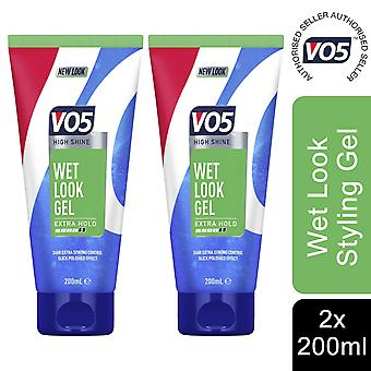 2x of 200ml Wet Look Gel HighShine 24H ExtraStrong Control Slick Polished Effect