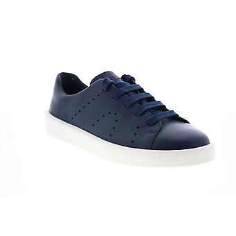 Camper Courb  Mens Blue Leather Lace Up Euro Sneakers Shoes