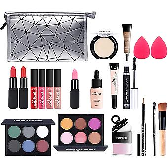 Professional Makeup Set,MKNZOME Cosmetic Starter Kit With Storage Bag