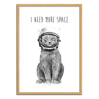 Art-Poster - I need more space - Balazs Solti