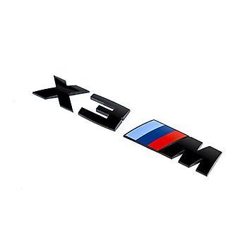 Gloss Black BMW X3 M Letters Rear Boot Lid Trunk Badge Emblem For X Series 165mm x 25mm
