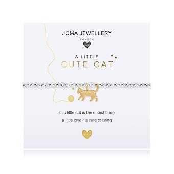 Joma مجوهرات الأطفال & a a قليلا لطيف القط الفضة 15.5cm تمتد سوار C492
