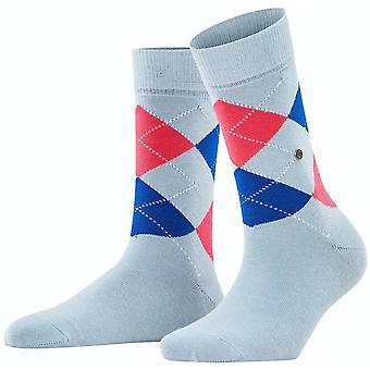 Burlington Queen Socks - Light Steel Blue/Red