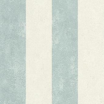 Getextureerd streepblauw behang