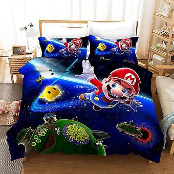 Home Textile 3d Mario Bro Bedding Sets, Single Double Bedclothes