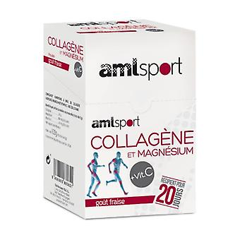 AmlSport Collagen with Magnesium 20 units of 5g (Strawberry)