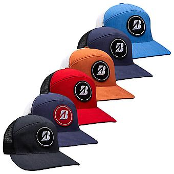Bridgestone Herren 2021 7 Panel strukturiert verstellbar Snapback Baseball Golf Cap