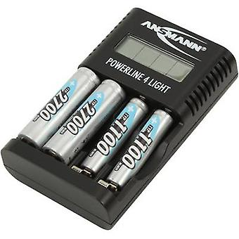 Ansmann Powerline 4 ljus laddare för cylindriska celler NiCd, NiMH AAA, AA