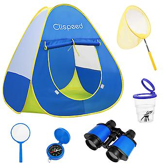 Clispeed Castle Kids Camping Play Tent House Party Indoor Outdoor Garden Toys
