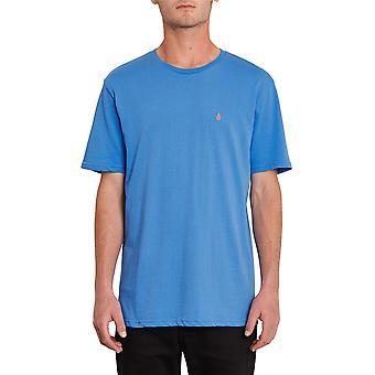 Volcom Hombres's Camiseta de algodón orgánico ~ Stone Blanks azul