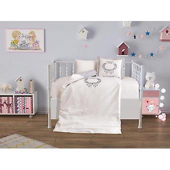 Wonderland Baby Crown, Lux Embroidered Duvet Set