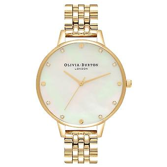 Olivia Burton Ob16se13 Mother Of Pearl Dial And Gold Bracelet Ladies Watch