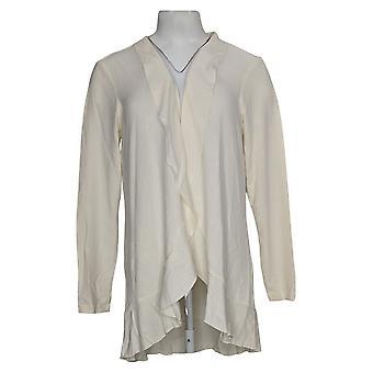 Belle by Kim Gravel Women's Sweater Ruffle Edge White A374480