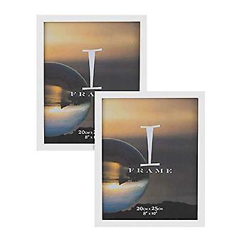 """8"""" x 10"""" - iFrame-sarja 2 valokuvakehystä valkoinen"""