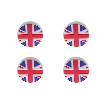 4 Pcs Silicone Tennis Racket Vibration Dampeners Uk Flag Pattern Tennis Racquet Absorbers Tennis Racket Strings Dampers For Players