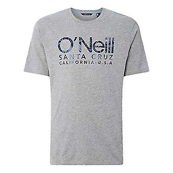 O'NEILL Lm Logo Camiseta de manga corta para hombre, camiseta de manga corta para hombre, 0A2388, gris (cuerpo a cuerpo plateado), S