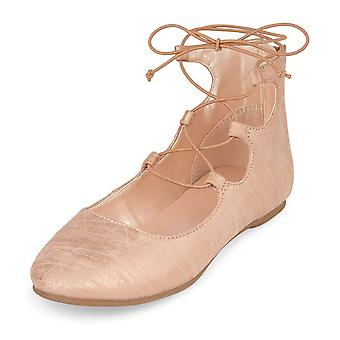 The Children's Place Kids' Bg Lace-up Avery Ballet Flat
