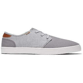 TOMS Carlo Mens Fabric Casual Trainers Grå