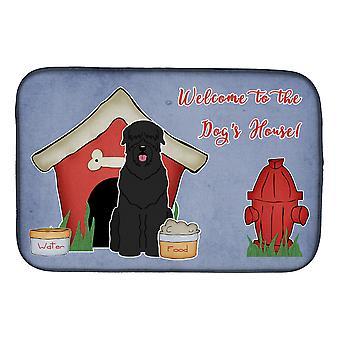 Caroline's Treasures Dog House Collection Tappeto per l'asciugatura dei piatti black russian terrier, 14 x 21