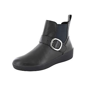 Fitflop Mujer Superbuckle Cuero Chelsea Bota Zapatos