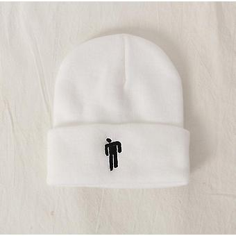 2Pcs white suitable for autumn and winter knitted hats, hip hop hats, woolen hats, european and american men az13732