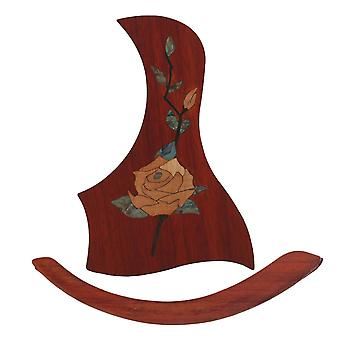 40-41 tuuman kitara näätäkuvio puu pickguard scratchplate w / arm rest WS1298