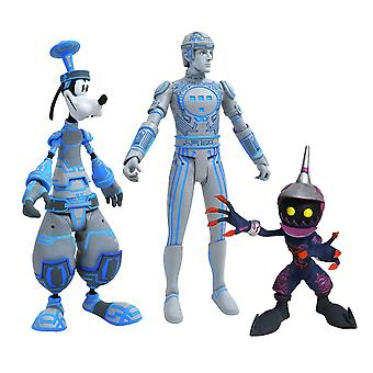 Space Paranoids Tron Goofy And Soldier (Kingdom Hearts) Action Figure