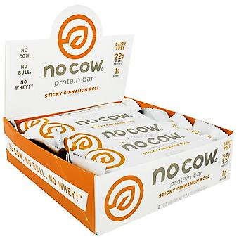 D's Naturals No Cow Protein Bar, Sticky Cinnamon Roll 12 Count