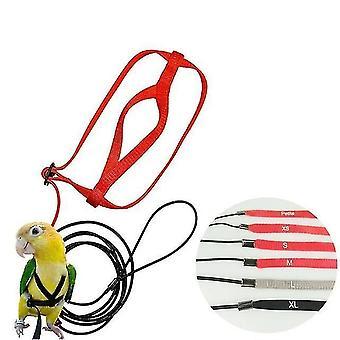 neue xs verstellbare Papageien Vogel Geschirr Leine Anti Biss Trainingsseil Outdoor fliegen sm31950