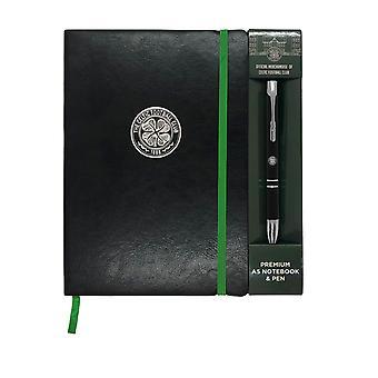 סלטיק FC מחברת & עט A5 פרמיה רשמית כדורגל מתנה