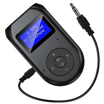 2 in 1 AUX Bluetooth transmitter and receiver, USB Bluetooth adapter with LCD display