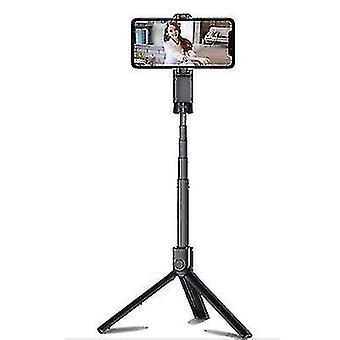 Ručná akumulátorová rozšíriteľná selfie tyčinka Bluetooth s diaľkovým ovládačom uzávierky (ružová)