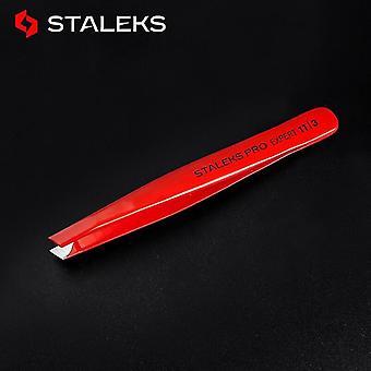 المهنية الأحمر عالية الجودة مائل تلميح الفولاذ المقاوم للصدأ الحاجب ملاقط | ملاقط رمش