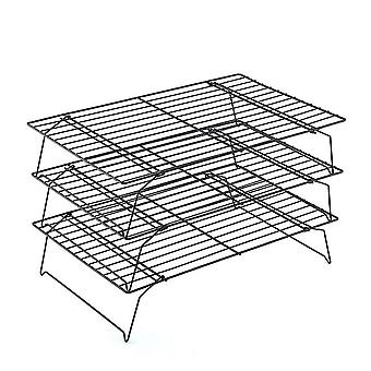 3Layers Stackable Cake Cooling Rack Metal Biscuits Bread Cookie Cooling Rack Net Mat BakingTools