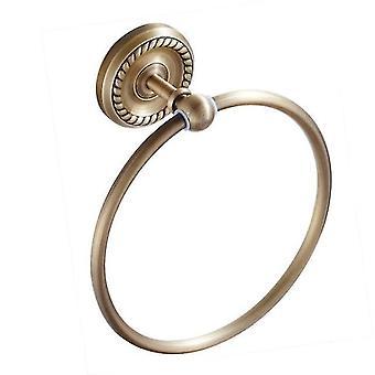 Antikke håndklæde ring messing væg monteret runde håndklædeholdere olie gnides bronze badehåndklæder Ringe