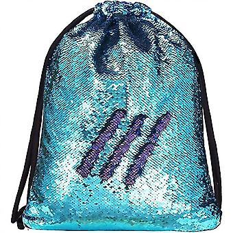 Mermaid Sequin Drawstring Bags Reversible Sequin Dance Bags Gym Backpacks For Girls